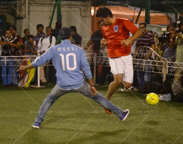 14jun ranbirfootball 05 612x482 Armaan and Ranbir come together to celebrate the football fever!!