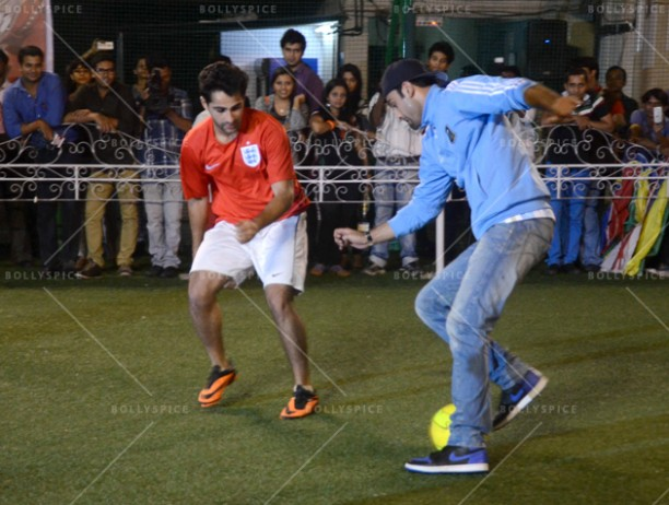 14jun ranbirfootball 07 612x462 Armaan and Ranbir come together to celebrate the football fever!!