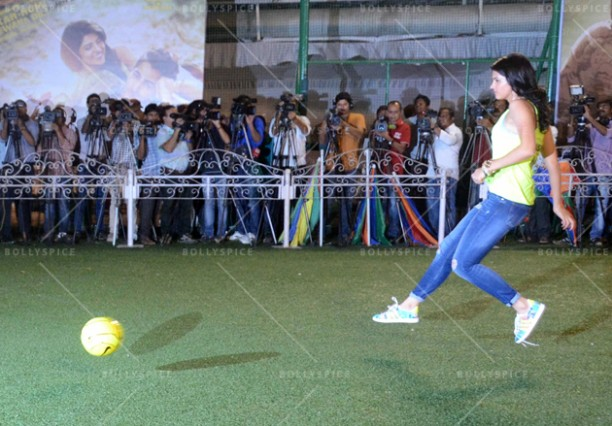 14jun ranbirfootball 08 612x426 Armaan and Ranbir come together to celebrate the football fever!!
