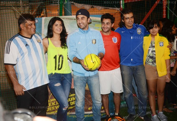 14jun ranbirfootball 10 612x421 Armaan and Ranbir come together to celebrate the football fever!!