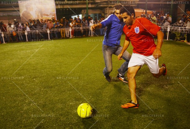 14jun ranbirfootball 12 612x417 Armaan and Ranbir come together to celebrate the football fever!!