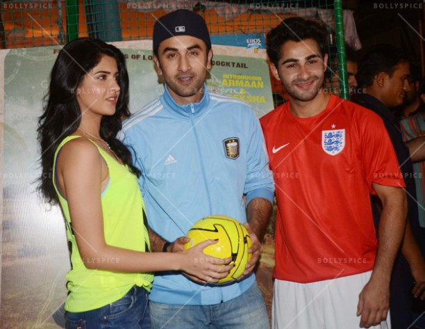 14jun ranbirfootball 14 612x473 Armaan and Ranbir come together to celebrate the football fever!!