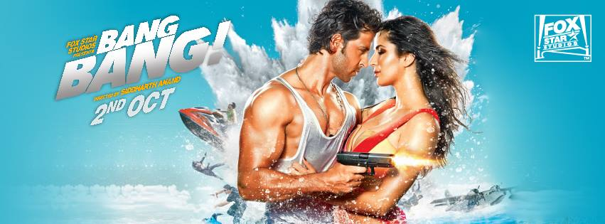 BangBangposter First HOT Look: Hrithik and Katrina in Bang Bang