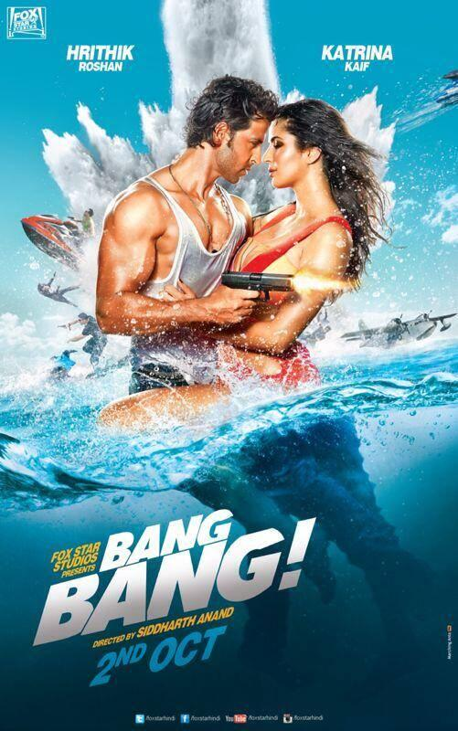 BangBangposter02 First HOT Look: Hrithik and Katrina in Bang Bang