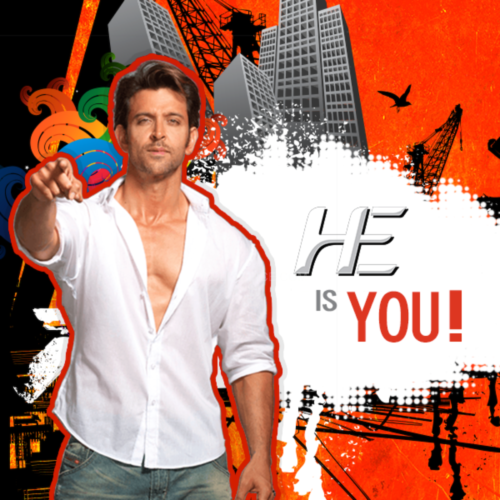 hrithikHE10 Hrithik turns Brand ambassador for He Deo