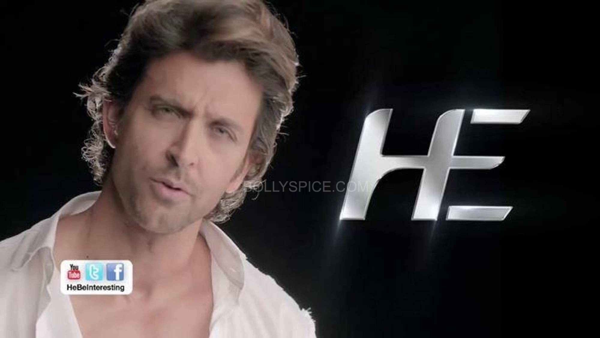 hrithikHE2 Hrithik turns Brand ambassador for He Deo