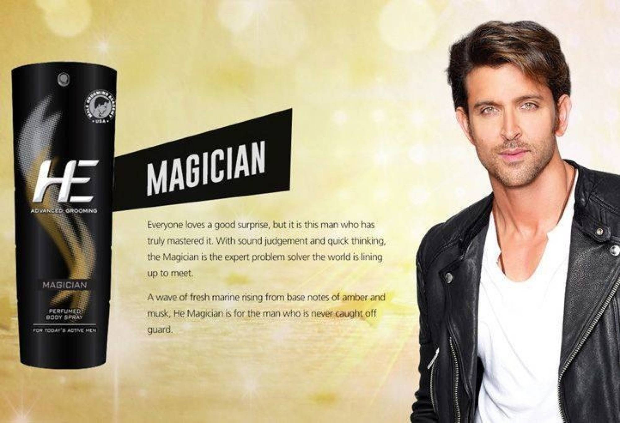 hrithikHE9 Hrithik turns Brand ambassador for He Deo