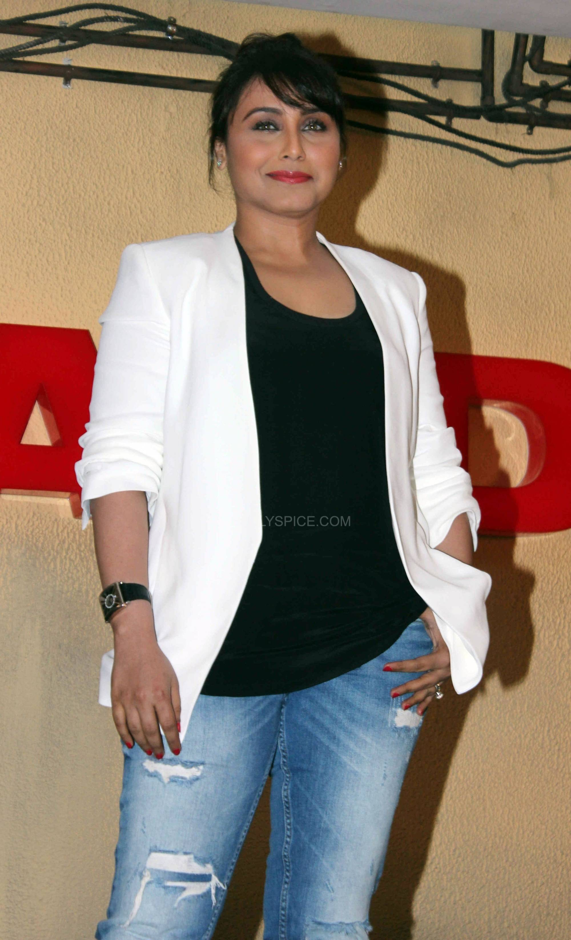 ranimardaanitrailerlaunch1 In Pictures: Rani at Mardaani Trailer Launch