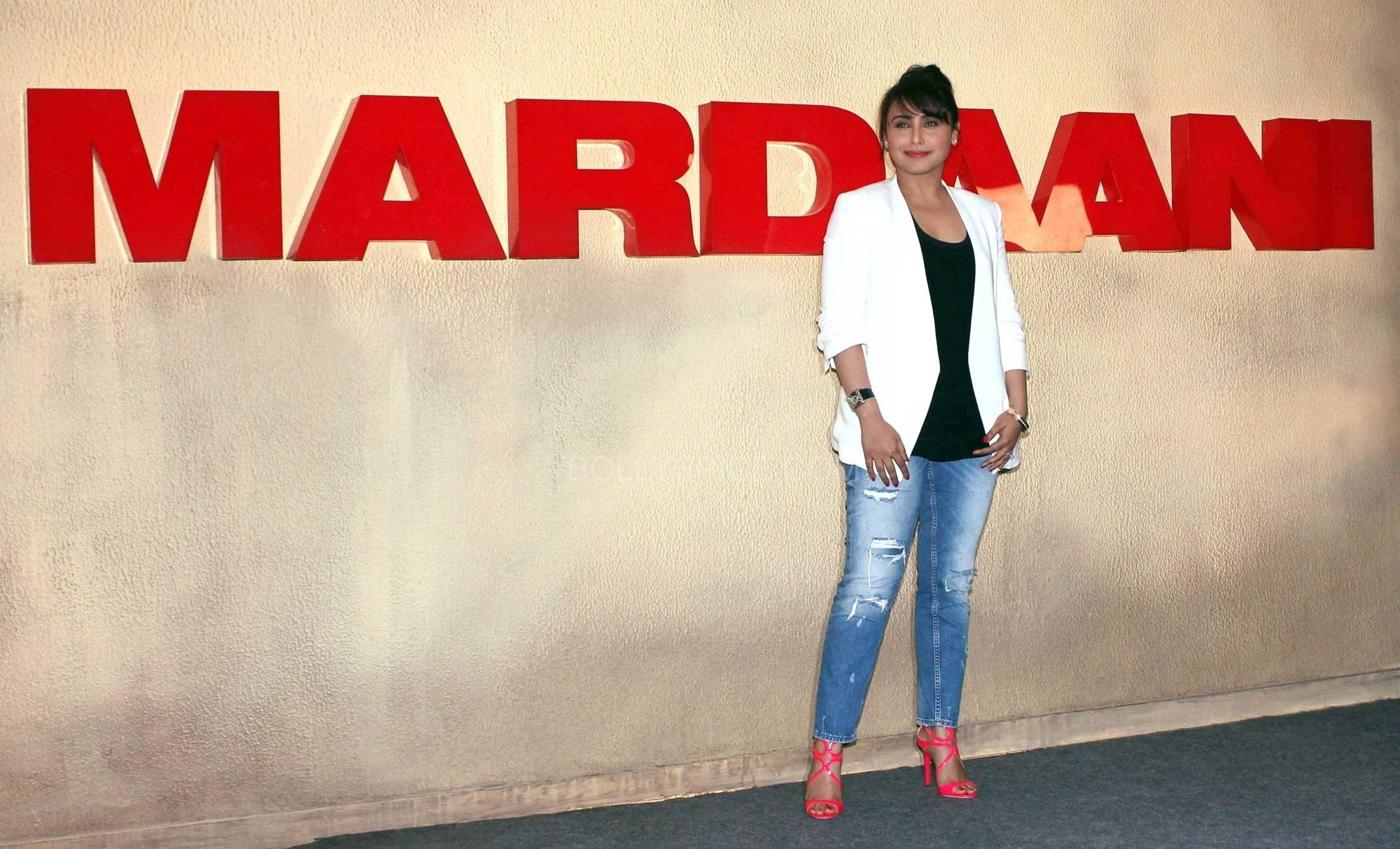 ranimardaanitrailerlaunch10 In Pictures: Rani at Mardaani Trailer Launch