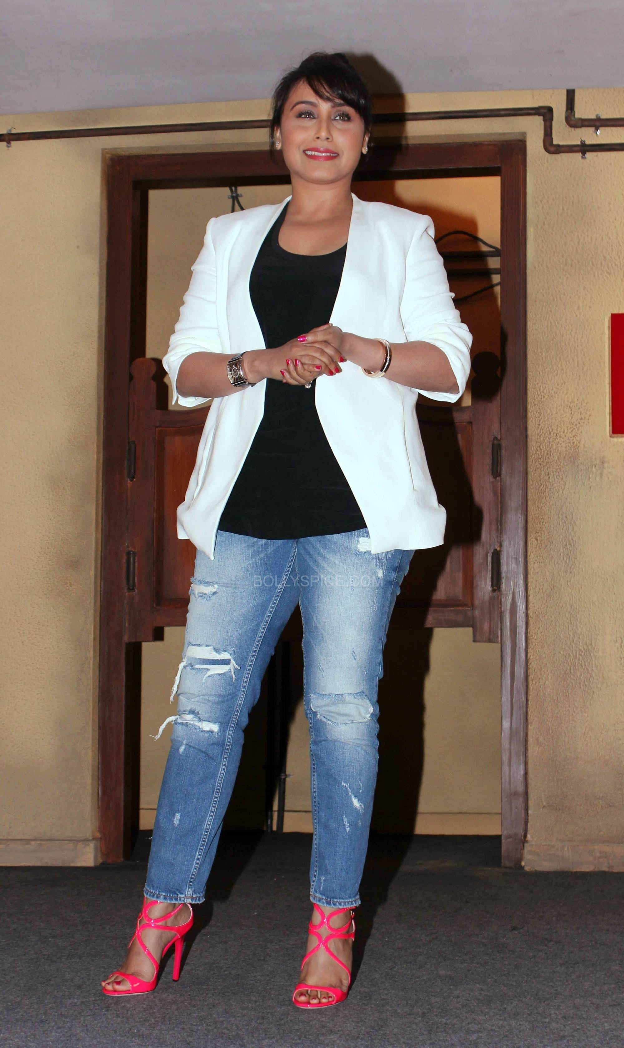 ranimardaanitrailerlaunch2 In Pictures: Rani at Mardaani Trailer Launch