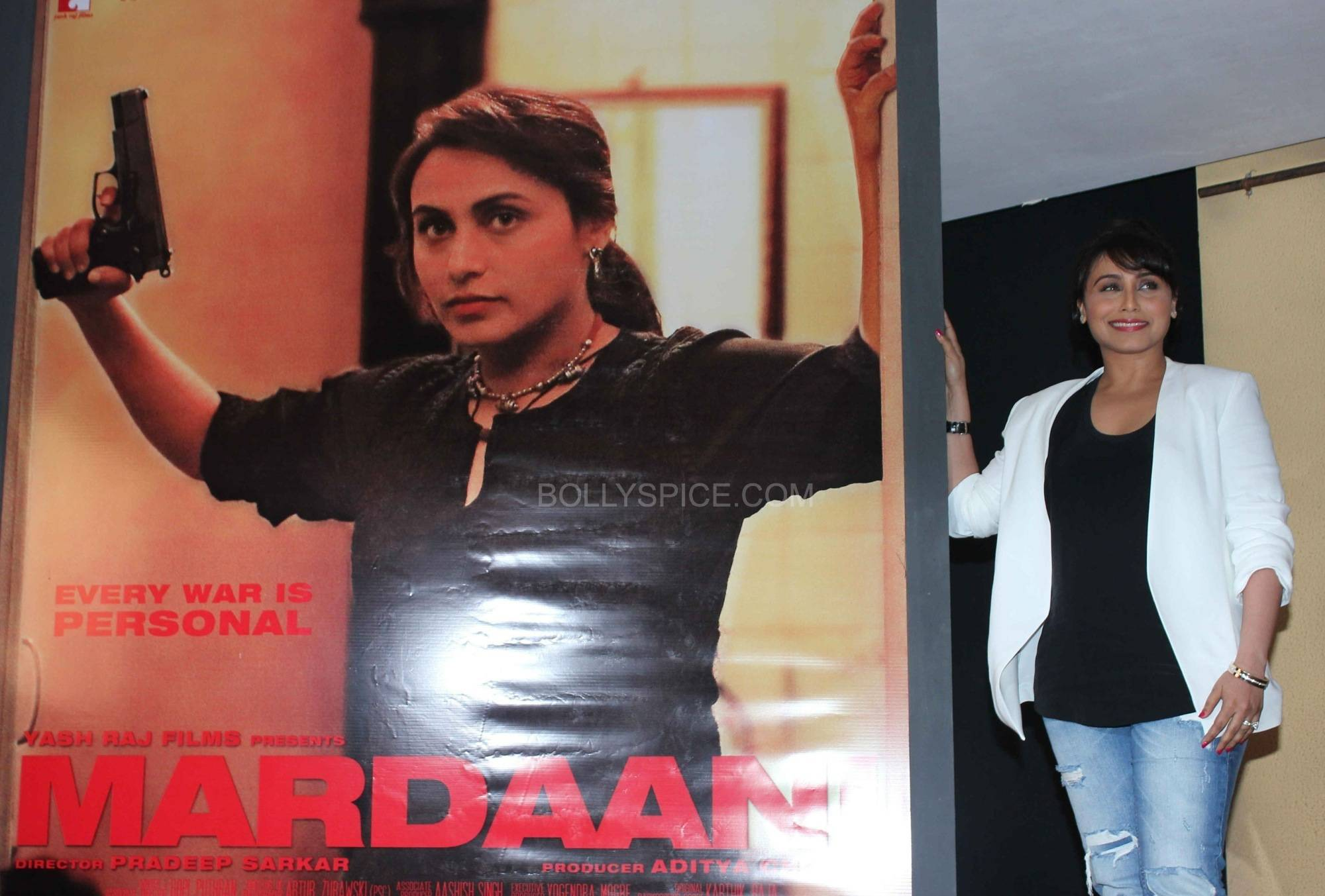 ranimardaanitrailerlaunch3 In Pictures: Rani at Mardaani Trailer Launch