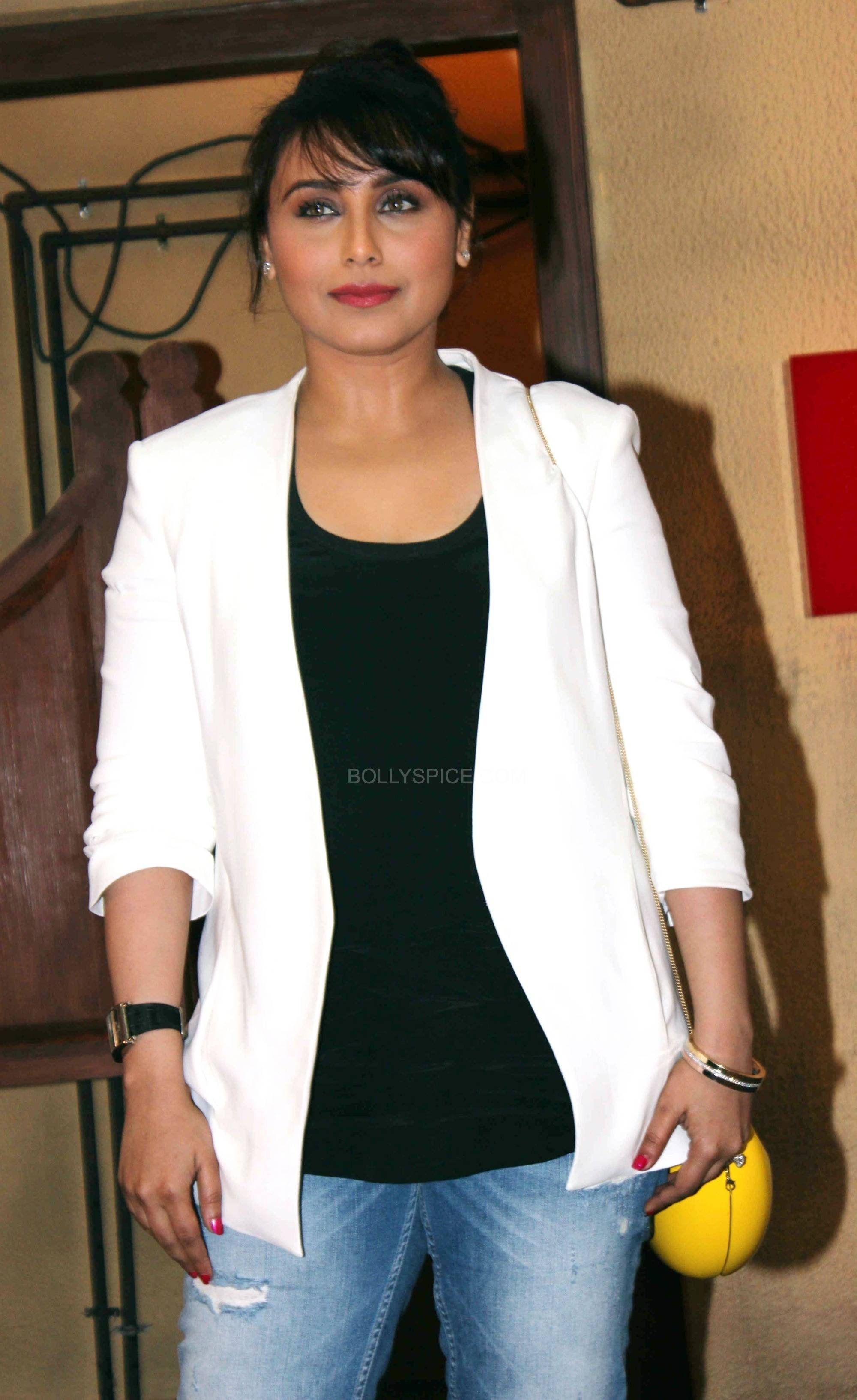 ranimardaanitrailerlaunch7 In Pictures: Rani at Mardaani Trailer Launch