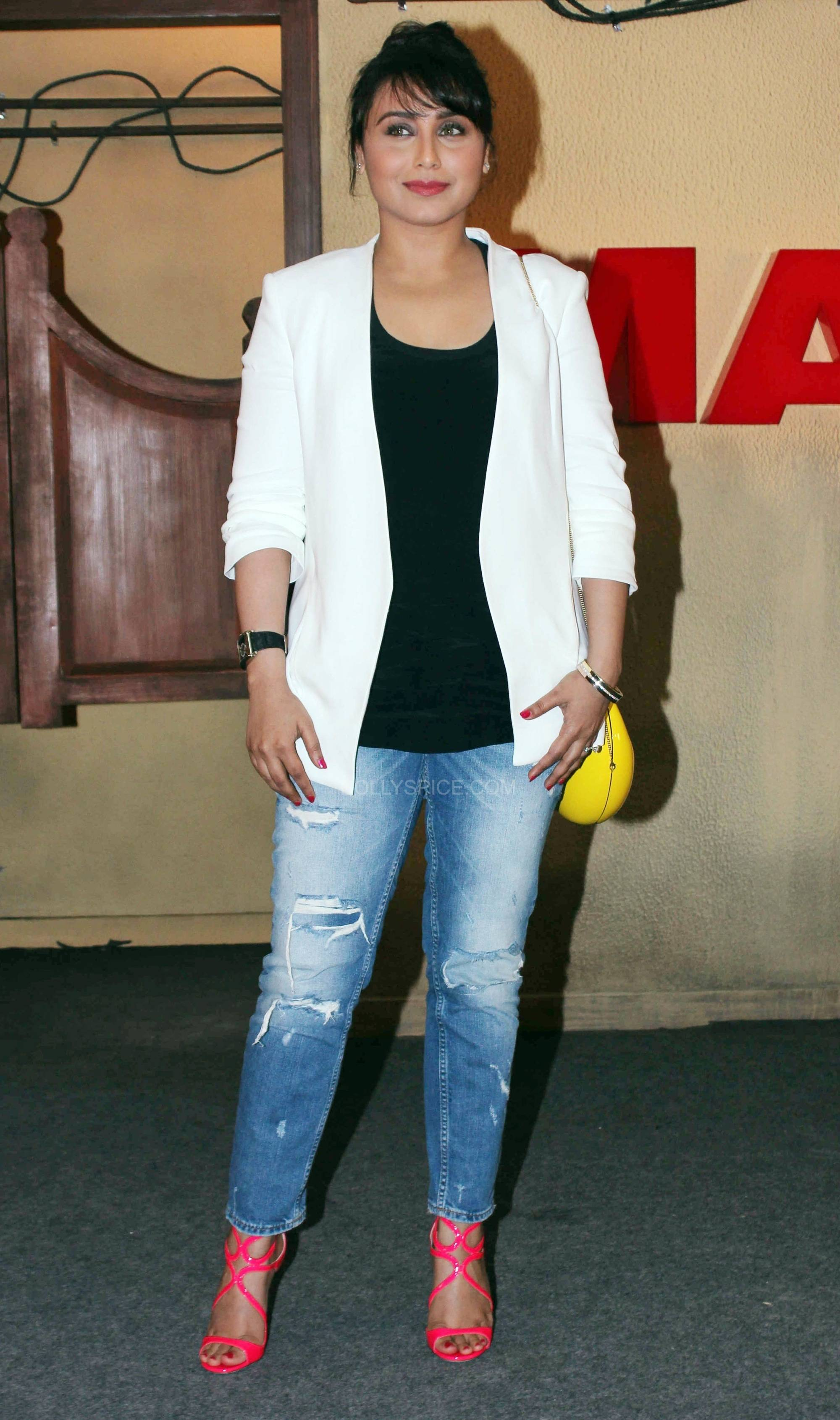 ranimardaanitrailerlaunch8 In Pictures: Rani at Mardaani Trailer Launch