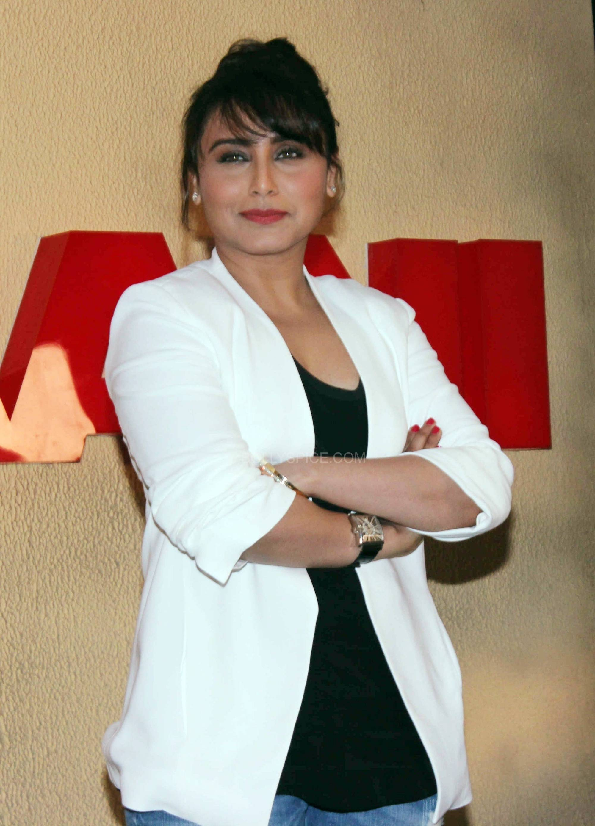 ranimardaanitrailerlaunch9 In Pictures: Rani at Mardaani Trailer Launch