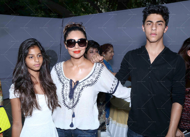 183569 In Picures: Gauri along with Suhana and Aryan Khan launch The Brown Box Bakery