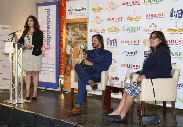 Reena Ranger Vivek Oberoi Gurinder Chadha OBE 'Women Empowered In Support Of Sewa Day' In Conversation With Vivek Oberoi