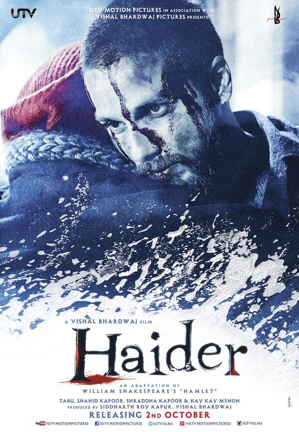 haider2 First Look: Shahid Kapoor in the powerful posters of Haider