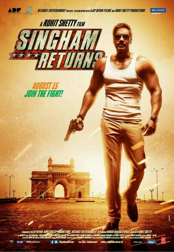 singhamreturnsposter02 Sneak Peek: Singham Returns Posters not 1 but 6!
