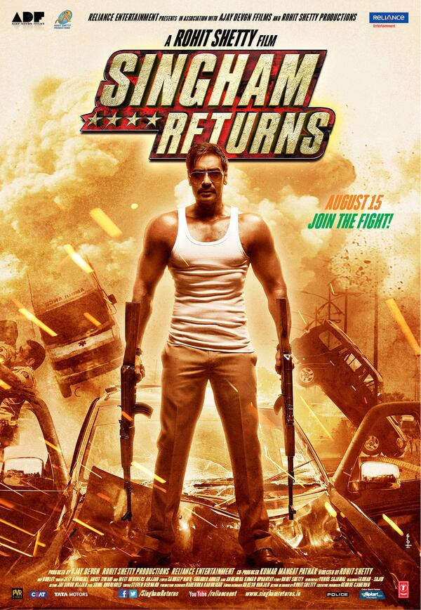 singhamreturnsposter06 Sneak Peek: Singham Returns Posters not 1 but 6!