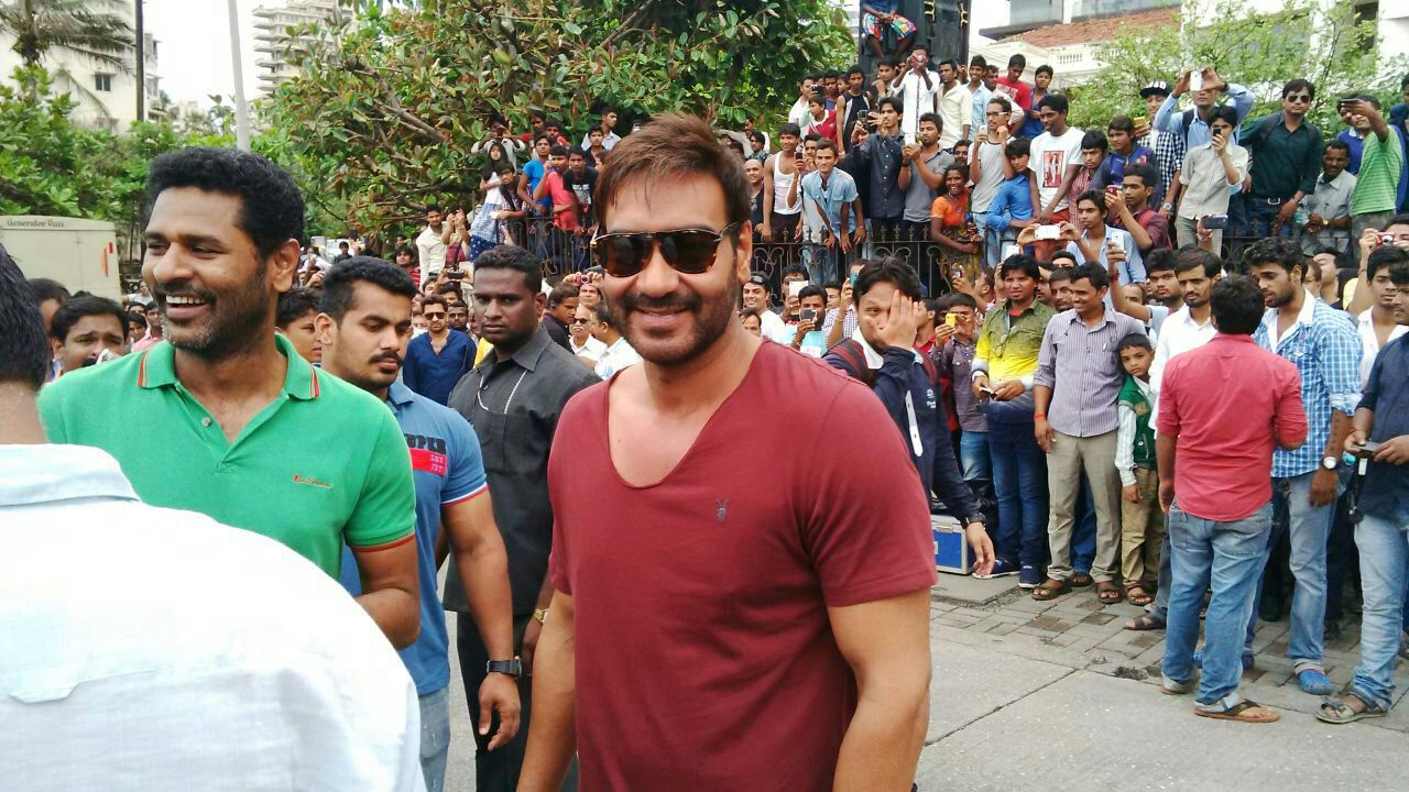 Ajay Devgn-Prabhu Deva shooting for Action Jackson
