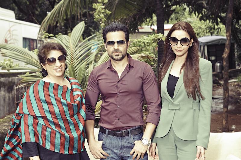(L-R) Guneet Monga, Emraan Hashmi and Prashita Chaudhary
