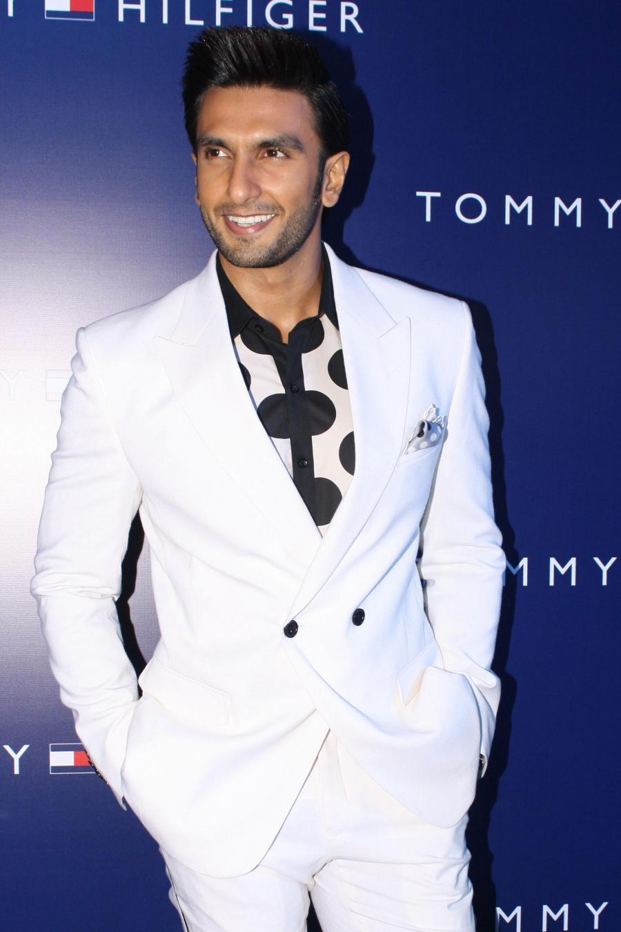 Actor Ranveer Singh at the Red Carpet of 10th anniversary of fashion brand Tommy Hilfiger`s existence in India, in New Delhi, on Sept. 28,2014. (Photo: Amlan Paliwal/IANS)