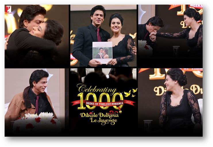 14dec_Shah Rukh Khan Kajol 1000 weeks DDLJ