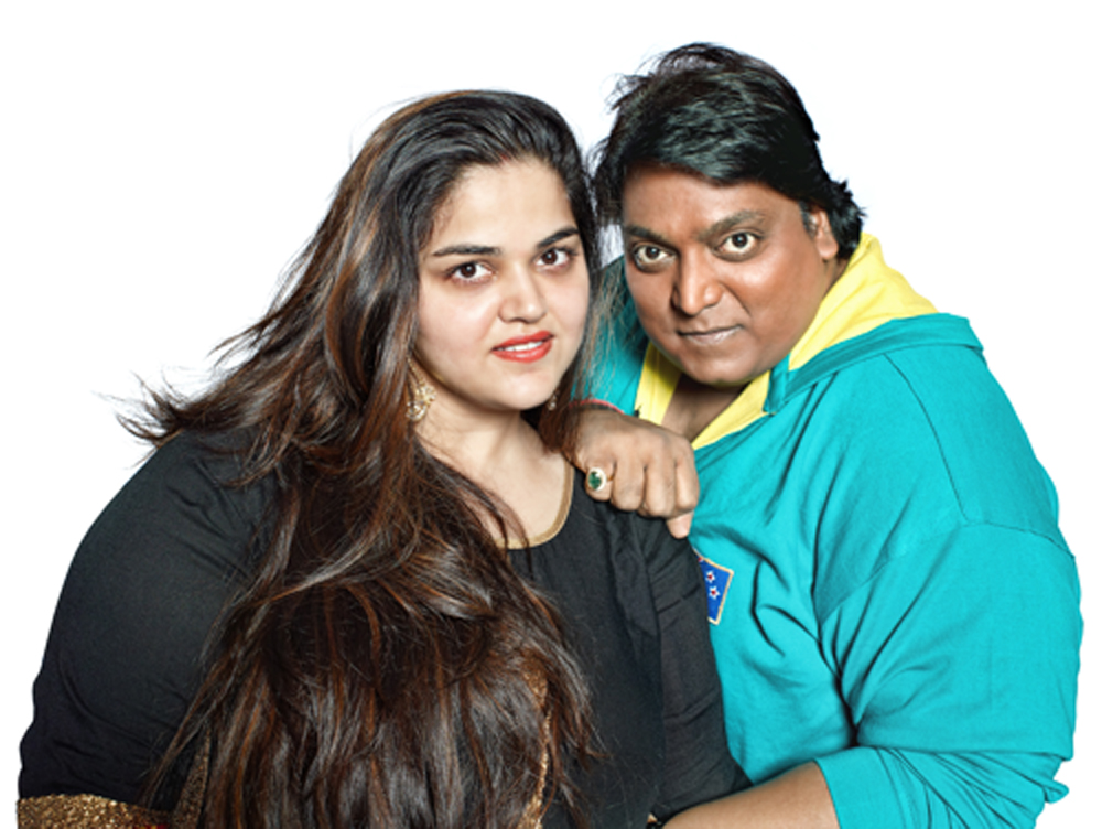 Image result for ganesh aacharya pic with his wife