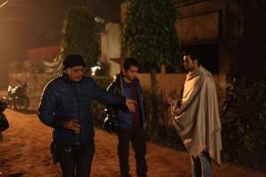 Hansal Mehta and Rajkummar Rao shooting for Aligarh