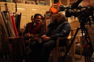 Manoj Bajpai and Hansal Mehta shooting for Aligarh