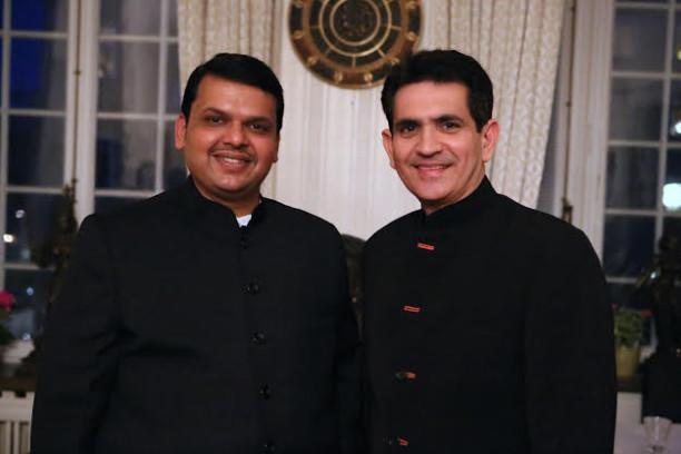 Omung Kumar met Maharashtra CM in Stockholm