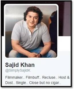 Sajid Khan Twitter