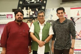 Subhash Ghai, Founder & Chariman, Whistling Woods International, Omung Kumar at Whistling Woods