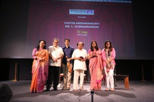 Subhash Ghai, Kavita Krishnamurti, Dr. L. Subramaniam_5th Veda, Whistling Woods International