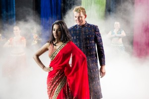 unINDIAN. Brett Lee as Will with Tannishtha Chatterjee as Meera.Photo by...