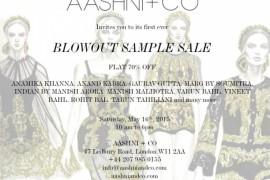 Aashni + Co presents Blowout Sample Sale