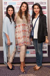 L-R Designer Rozina Munib, Hina Rasim and Ammara Khan