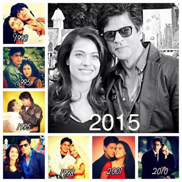 Shah Rukh Khan Kajol over the years