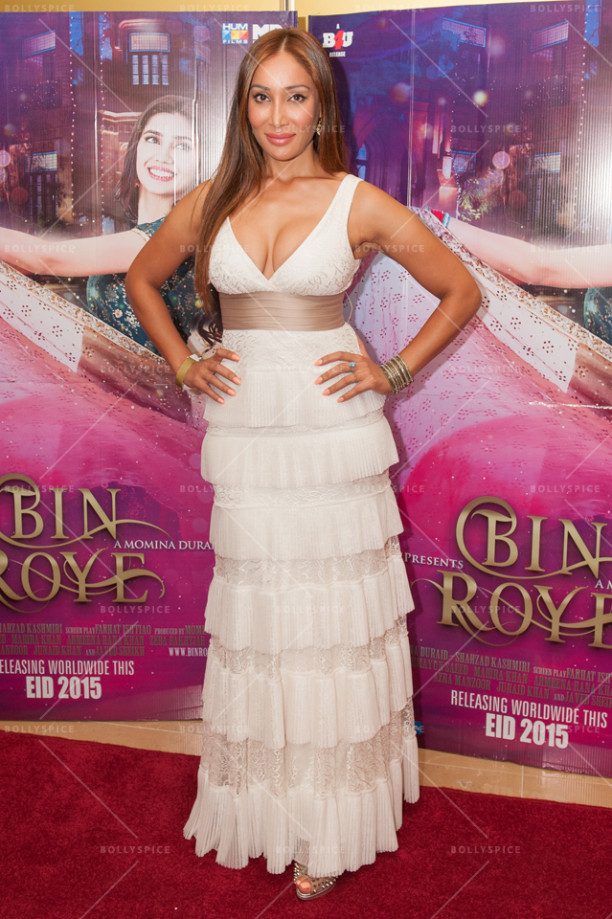 Actress Sofia Hayat at Bin Roye UK premiere