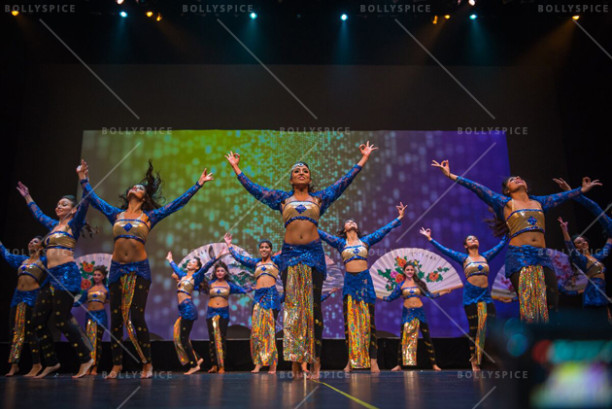 Shiamak's Special Potential Batch displaying a Shiamak style indo - contemporary piece