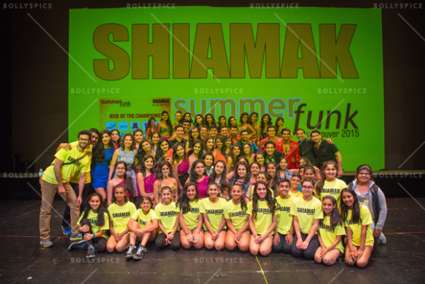 The SHIAMAK Team - the instructors, Special Potential Batch, Advanced Training Program, and Junior Advanced Training Program students with Shiamak Davar & Marzi Pestonji