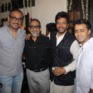 Abhinav Kashyap and Javed Jaffrey with friends
