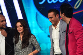 Preity Zinta on the sets of Indian Idol Junior