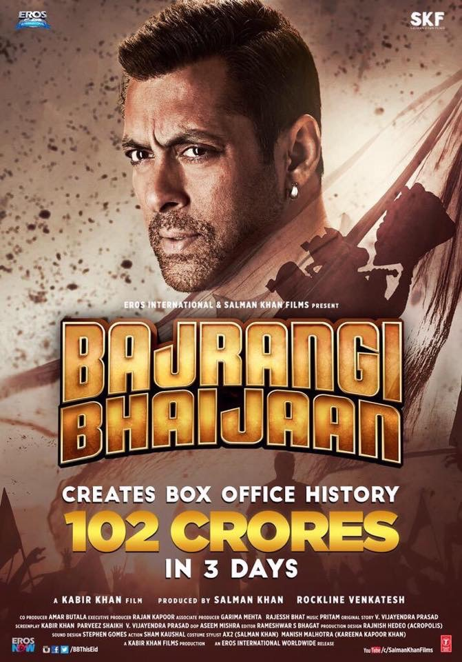 Bajrangi bhaijaan breaks box office records in india and overseas the latest - Indian movies box office records ...