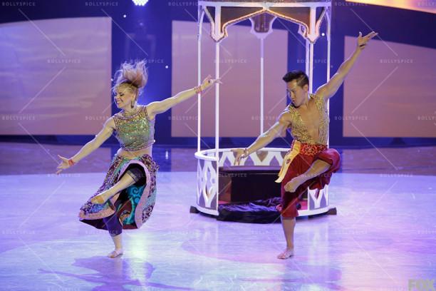 Jaja and Alex Wong perform a Bollywood routine choreographed by Nakul Dev Mahajan.