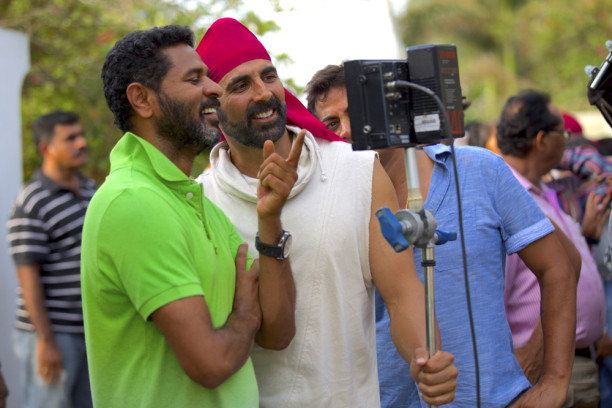 Prabhudheva on the sets of Singh is Bliing
