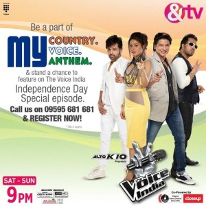 The Voice India to celebrate India's Independence Day