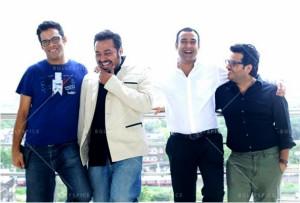 (L-R) Vikramaditya Motwane, Anurag Kashyap, Madhu Mantena & Vikas Bahl