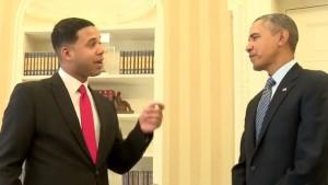 President Obama impersonator in Tere Bin Laden- Dead or Alive
