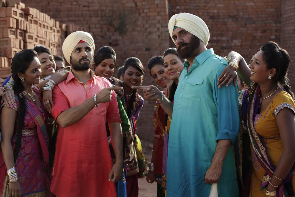 Vir Das and Boman Irani in Santa Banta